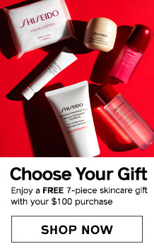 Free 7-piece skincare gift with $100 purchase. SHOP NOW