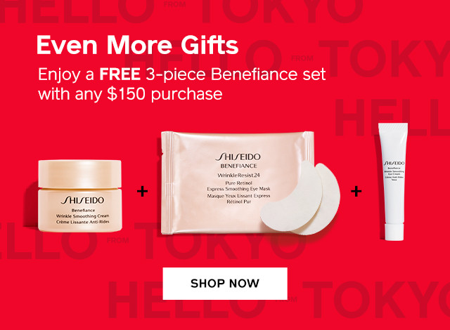 Enjoy a FREE 3-piece Benefiance set with any $150 purchase