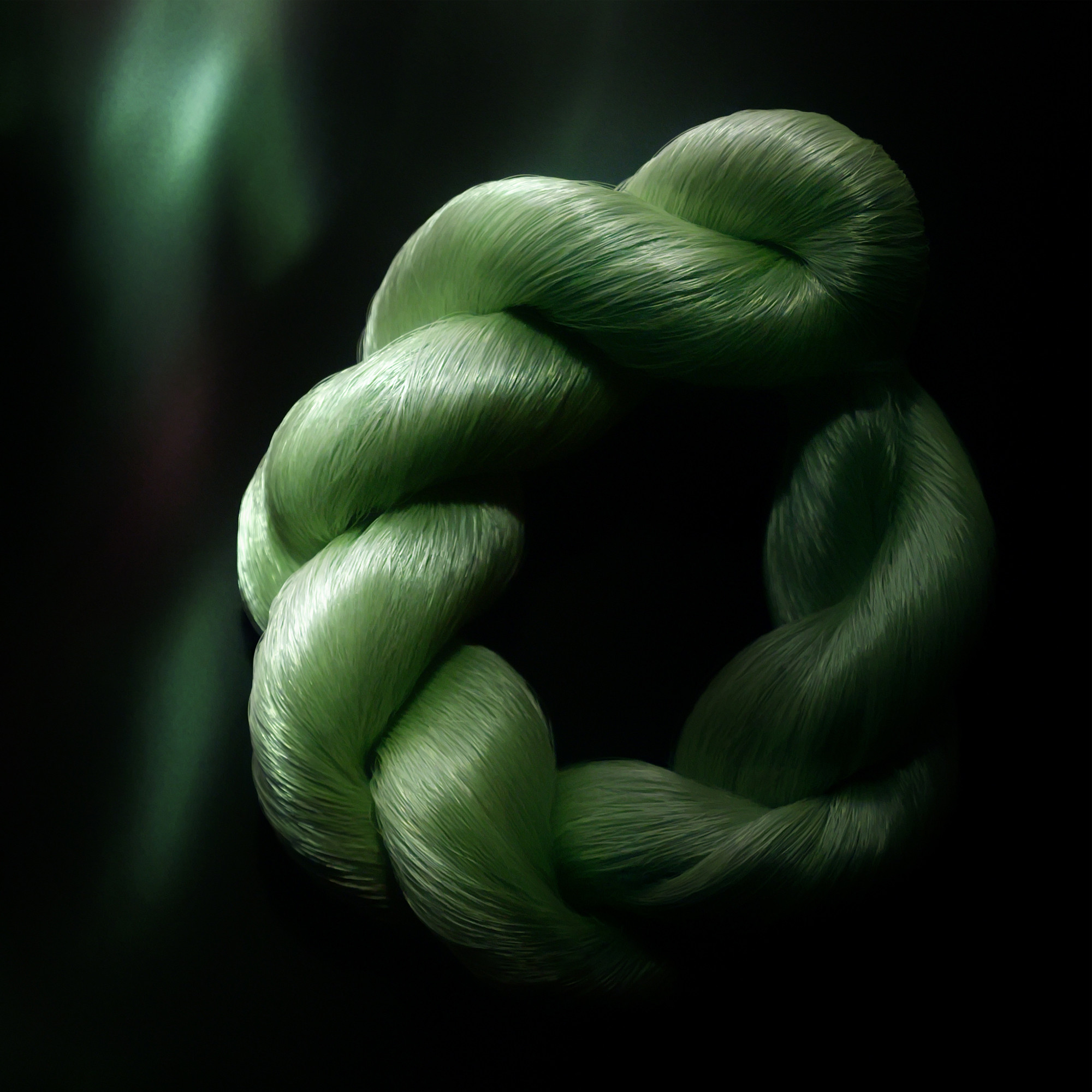 Green Treasured Silk